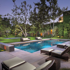 Contemporary Pool by Prestige Builders