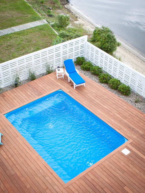 Aboveground Pool Deck | Houzz