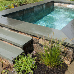 Inspiration for a traditional rectangular pool in Boston.