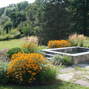 Inspiration for a traditional backyard rectangular natural pool in Boston.