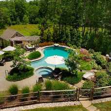 Traditional Pool by Landscape Design Group Inc.