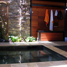Asian Patio by Chuck B. Edwards - Breckon Land Design