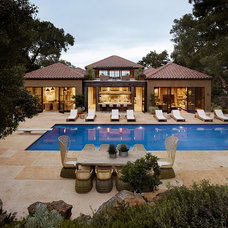 Mediterranean Pool by Ken Linsteadt Architects