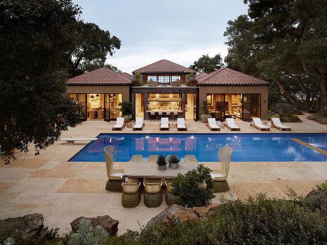 Mediterranean Pool by Ken Linsteadt Architects