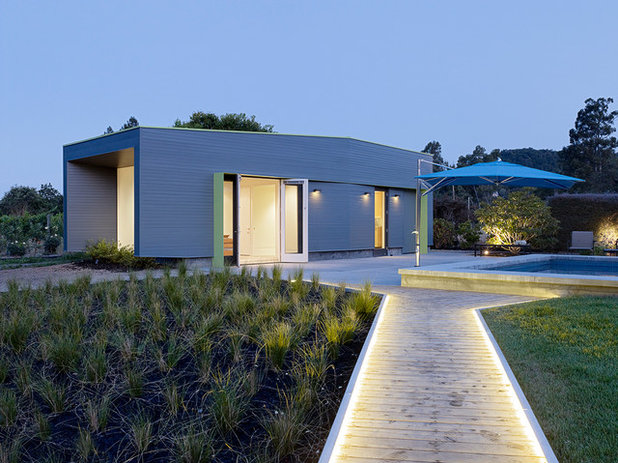 Contemporary Swimming Pool by Kim Cladas Lighting Design
