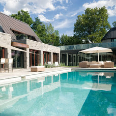 Contemporary Pool by Barry J. Hobin and Associates Architects