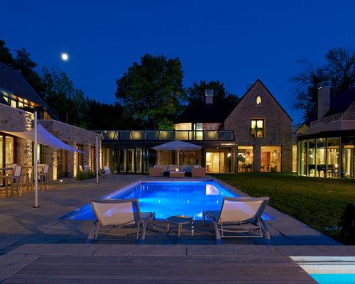 U-Shaped House Pool Ideas & Photos | Houzz