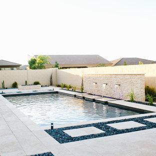Ispirazione per una piscina minimalista