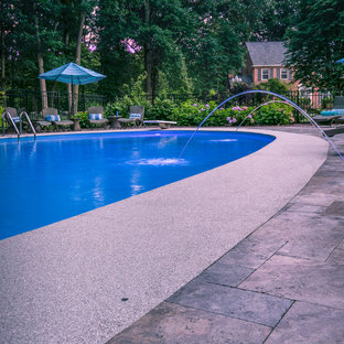 Sophisticated Silver Travertine Pool Area