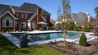 South Charlotte Custom Geometrical Pool and Spa