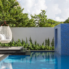 Contemporary Pool by Touzet Studio