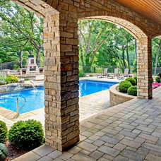 Traditional Pool by Southampton Builders