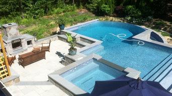 Southampton negative edge infinity pool construction by Patricks Pools builder