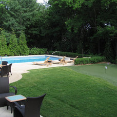 Transitional Pool by Brookside Landscapes, Inc.