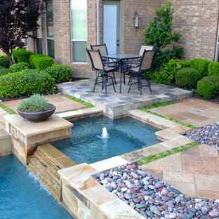 Southlake Rustic Contemporary Pool and Spa