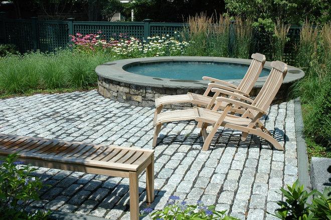 Rustic Pool by Timothy Lee landscape design