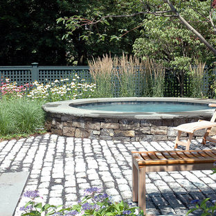 Inspiration for a timeless pool remodel in Boston