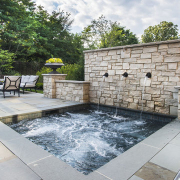Spa (Hot Tub) with Scupper Water Features