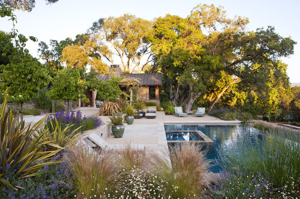 Rustic Pool by Arterra Landscape Architects