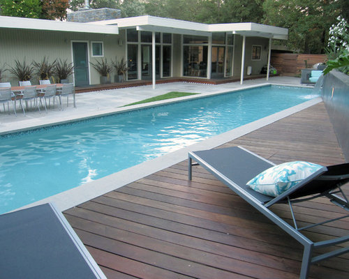 Best midcentury swimming pool design ideas remodel for Pool design houzz