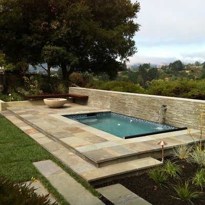 Inspiration for a transitional pool fountain remodel in San Francisco