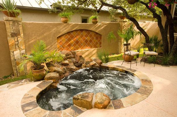 Mediterranean Pool by Jim Boles Custom Homes