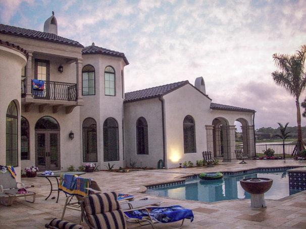 Mediterranean Pool by Period Style Homes Plan Sales, Inc