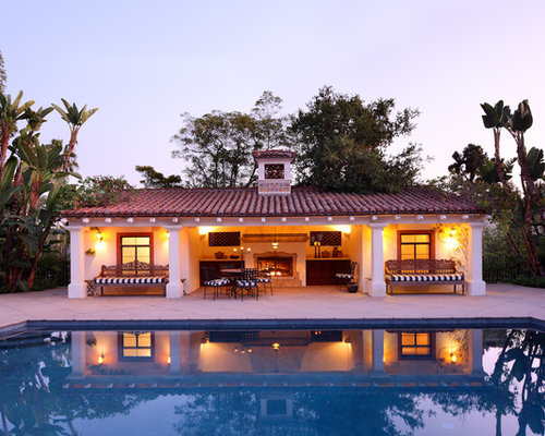 Spanish colonial style house plans houzz for Spanish colonial home designs