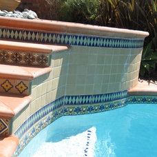 Mediterranean Pool by ARCHARIUM Tile and Stone