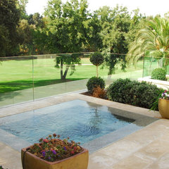mediterranean pool by Westfall Design Studio