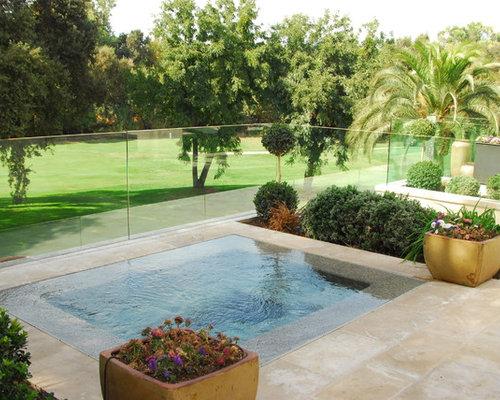 Plexiglass fence houzz for Plexiglass pool fence