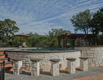 Spanish Style Home - Hill Country Hacienda Pool