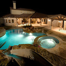 Mediterranean Pool by Russell Eppright Custom Homes
