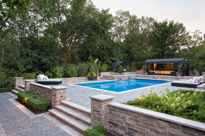 Contemporary Pool by Pro-land Landscape Construction