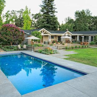 Pool - contemporary rectangular pool idea in San Francisco