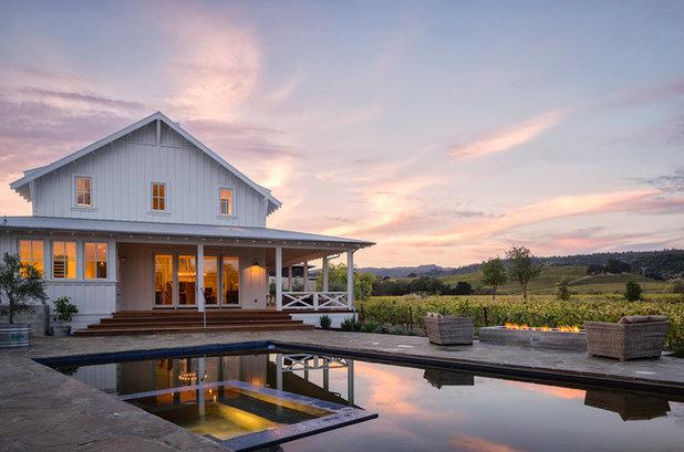 Farmhouse Pool by Michael Hospelt Photography