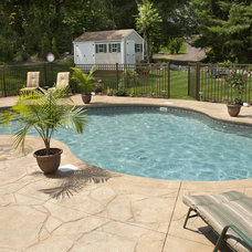 Traditional Pool by stamp concrete  Who & What We Do 905 782-6722