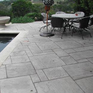Stamped Concrete Pool Decks