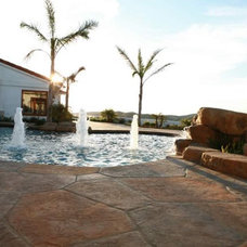 Traditional Pool by Spragues' Ready Mix Concrete