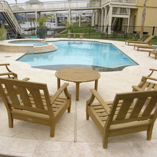 Traditional Pool by Stamped Artistry