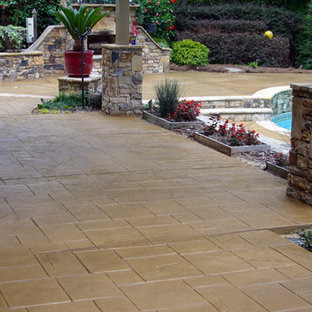 Stamped Decorative Concrete Patio and Pool Deck