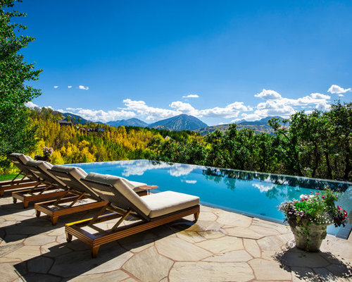 Country infinity pool design ideas renovations photos for Country pool ideas
