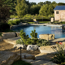 Farmhouse Pool by Charles C Hugo Landscape Design