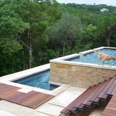 modern pool by D-CRAIN Design and Construction