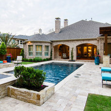 Traditional Pool by John Lively & Associates