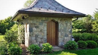 Stone Pool House & Pergola