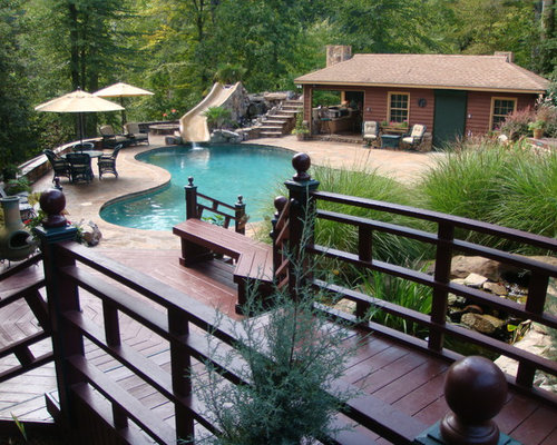 Rustic richmond pool design ideas remodels photos for Pool design richmond va