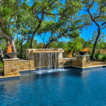 Straight Line Pool in Boerne Texas