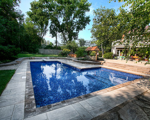 Stunning L Shaped Inground Pool