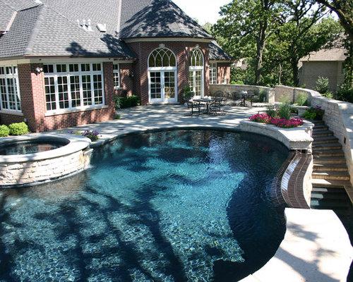Kidney Shaped Infinity Pool Design Ideas Renovations Photos